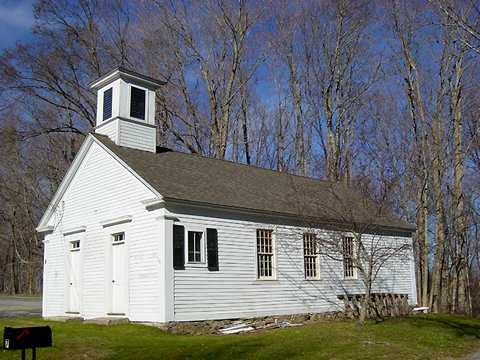 Canterbury's 19th century Green district schoolhouse, restored by the Canterbury Historical Society